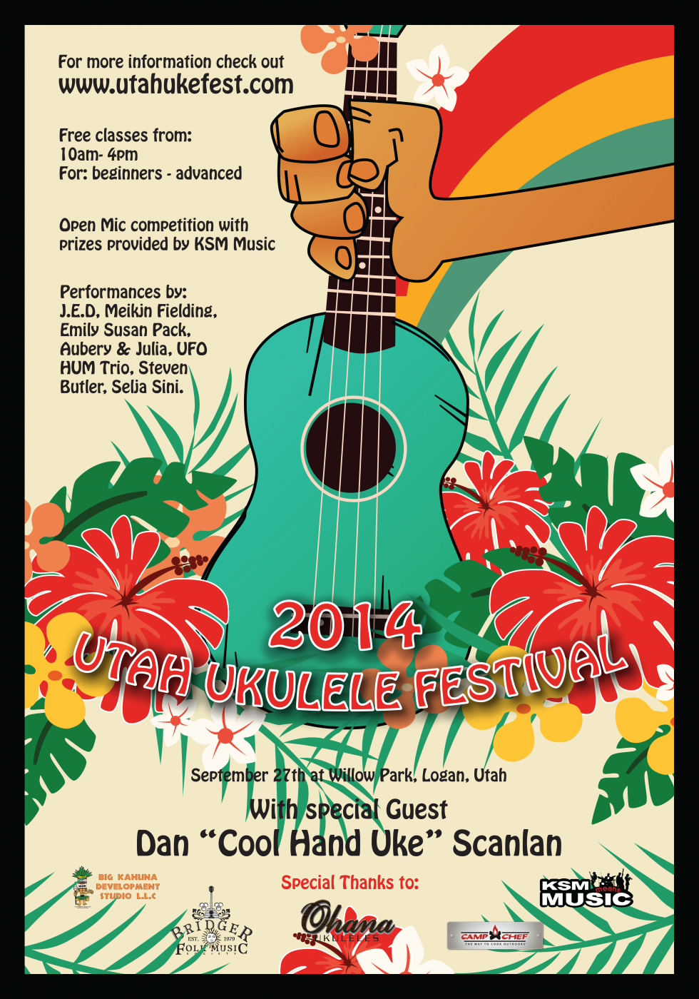 Poster for the Utah Ukulele Festival 2014